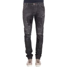 Philipp Plein Philipp Plein Men's Grey Cotton Jeans | Bluefly.Com ($679) ❤ liked on Polyvore featuring men's fashion, men's clothing, men's jeans, grey, mens cotton jeans, mens grey jeans, mens gray jeans and mens jeans
