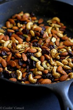 Curry Spiced Nuts with Dried Cherries...7 minutes from start to finish! 161 calories and 5 Weight Watchers PP | cookincanuck.com #GoTart