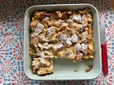 Cinnamon Apple Bread Pudding via Dinner: A Love Story Apple Cinnamon Bread, Apple Bread, Cinnamon Apples, Fall Recipes, Sweet Recipes, Mousse, Bread Pudding With Apples, And So It Begins, Easy Bread
