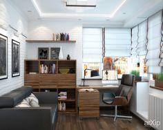 Прихожая, спальня и кабинет в стиле неоклассики: интерьер, квартира, дом, спальня, современный, модернизм, 30 - 50 м2 #interiordesign #apartment #house #bedroom #dormitory #bedchamber #dorm #roost #modern #30_50m2 arXip.com