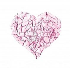 Illustration about Broken into small pieces of pink glass heart. Illustration of destruction, broken, married - 14576186 Broken Glass Crafts, Broken Glass Art, Shattered Heart, Shattered Glass, Heart Broken, Broken Heart Tattoo, Broken Hearted, Broken Friendship, Heart Pictures