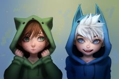 Hiccup and Jack Frost ♡ Kudos to whoever made this fan art Jack Frost, Rapunzel, Dreamworks Animation, Disney And Dreamworks, Jelsa, Disney Dream, Disney Love, Merida, Hiccup Jack
