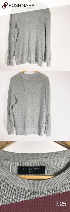 All saints sweater 100% Cotton   Length 25 inches  Bust 19 inches  Sleeve Length 23 inches All Saints Sweaters Crew & Scoop Necks