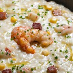Συνταγή για τραχανά με καλαμπόκι, σύγκλινο, εστραγκόν και γαρίδες από τον Γιάννη Λουκάκο! Θα δείτε τον τραχανά με άλλο μάτι με αυτή την υπέροχη συνταγή! Risotto, Ethnic Recipes, Life, Food, Meals