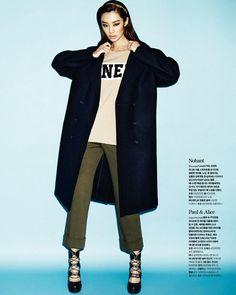 """koreanmodel: """"Stephanie Lee by Jang dukhwa for Cosmopolitan Korea Jan 2014 """""""