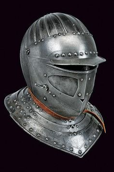 A Savoyard type closed helmet