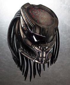 Cool .. Predator Helmet Motorcycle - Color Black - DOT Approved