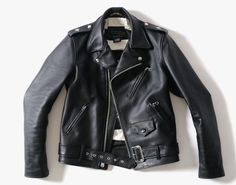 NEIGHBORHOOD x Schott One Star Leather Riders Jacket