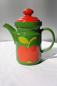 1 coffee pot pot Waechtersbach 70s 70s Shabby Apple Apples Panton Graziela | eBay
