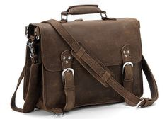 Fuctional Handcrafted Leather Briefcase / Messenger / Laptop / Men's Bag / Backpack in Dark Brown (L13) on Etsy, $144.99