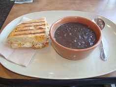 Panera black bean soup recipe- Delicious and easy-I added about 1/2 cup of salsa before blending to spice it up a bit.