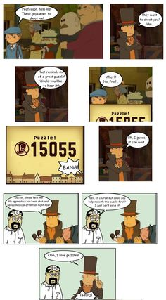 Professor Layton just loves puzzles  // funny pictures - funny photos - funny images - funny pics - funny quotes - #lol #humor #funnypictures