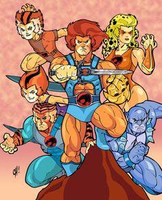 Thundercats by SpikeHDI on DeviantArt Famous Cartoons, 90s Cartoons, Classic Cartoons, Disney Cartoons, School Cartoon, Morning Cartoon, Gi Joe, Comic Books Art, Comic Art