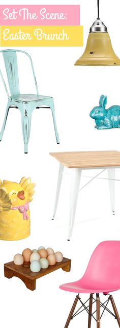 Kick up your Easter brunch this year with a fresh new twist on the usual pastels-and-bunnies motif   Shop Now at dotandbo.com
