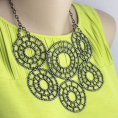 intricate beaded statement necklace