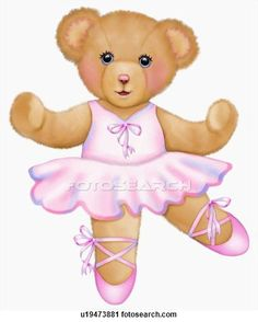 Clipart of Ballerina teddy bear | Cute Printables | Pinterest