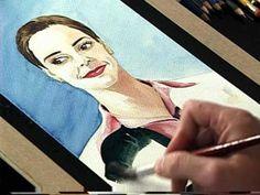 ▶ Portrai of woman Part 2 (Watercolor), Retrato de una mujer Parte 2 (Acuarela) - YouTube