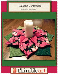 Poinsettia Centerpiece! $2.00 pattern available at www.thimble-art.com