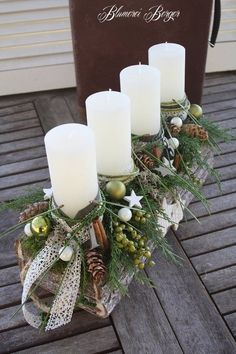 72 Trend Simple Rustic Winter Christmas Centerpiece - Simple And Popular Christmas Decorations, Table Decorations, Christmas Candles, DIY Christmas Cente - Christmas Candle Decorations, Diy Christmas Decorations For Home, Winter Centerpieces, Christmas Candles, Christmas Themes, Table Decorations, Classy Christmas, Noel Christmas, Rustic Christmas