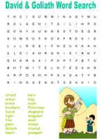David and Goliath word search