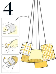 How to light up a room with patterned lampshades.