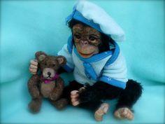 Chimp, Chimpanzee, Monkey , Ape, OOAK