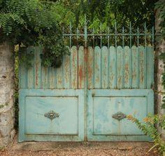 vintage aqua blue gates.....