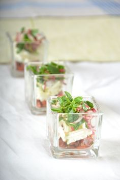 Tapas with Candied Sockeye Salmon  #culinarycapers #canape #horsdoeuvre #catering http://www.culinarycapers.com/ Photo: John C. Watson