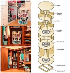 Amazing Interior Design This DIY Lazy Susan Shoe Rack is Just Awesome for Shoe Storage Shoe Storage Rack, Diy Shoe Rack, Diy Storage, Shoe Organizer, Shoe Racks, Storage Ideas, Storage Design, Homemade Shoe Rack, Shoe Rack Plans