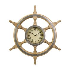 Aye, this old-timey clock is perfect for a nautical-inspired coastal residence. Fishermen, pirates, and first mates will be able to tell the time long after the lights have dimmed and everyone else has...  Find the Ahoy Clock, as seen in the The Sailors' Saloon Collection at http://dotandbo.com/collections/the-sailors-saloon?utm_source=pinterest&utm_medium=organic&db_sku=IMX0474
