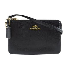 69.98$  Buy here - http://vihaz.justgood.pw/vig/item.php?t=d6ctk4b50347 - Coach Crossgrain Leather Corner Zip Wristlet Wallet 53429 Black 69.98$