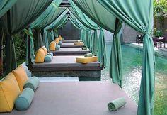 Elysian Bali Villas is a beautiful boutique hotel in Seminyak. Chic Retreats members receive hotel discounts and other benefits when booking Elysian Bali Villas online. Spa Interior Design, Spa Design, Luxury Interior, Villa Design, Outdoor Beds, Outdoor Living, Outdoor Furniture, Outdoor Decor, Outdoor Spa