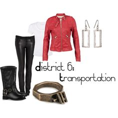 District 6: Transportation, created by checkers007 on Polyvore - Outfit for The Hunger Games.