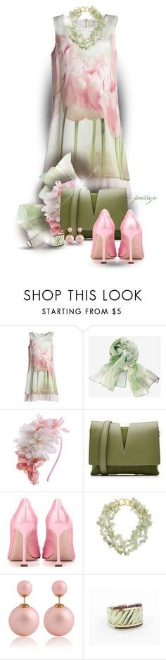 """""""Garden Party"""" by rockreborn ❤ liked on Polyvore featuring Chico's, Dorothy Perkins, Jil Sander, Miu Miu, Kenneth Jay Lane and David Yurman"""
