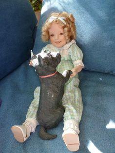 SHIRLEY TEMPLE MY FRIEND CORKY DOLL with SCOTTY DOG DANBURY MINT