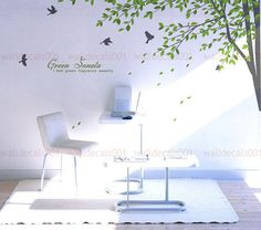 wall decals wall stickers  tree decals   Green by walldecals001