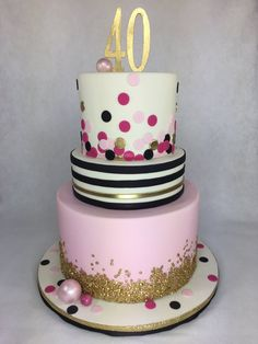 Kate Spade Inspired 40th Birthday Cake Pearland Houston Cakes