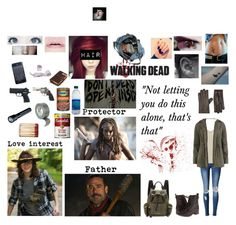 """The Walking Dead #4"" by xxflamedragonxx on Polyvore featuring WithChic, Simplex Apparel, Dorothy Perkins, Lucille, Cobb Hill, Smith & Wesson, Burberry, Fountain, Harrods and fandom"