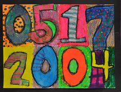 Jasper Johns and children's birthdays - all school project @ beginning of the year.