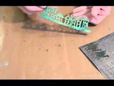 Embossing With Ranger's Holographic & Tinsel Powders
