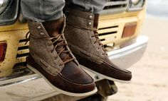 boat shoe boots - I don't know why I've been so into men's shoes recently
