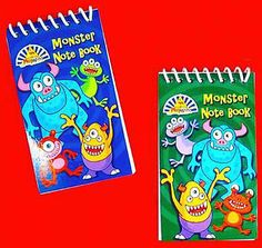 6 #monster notebooks - pinata toy loot/party bag #fillers #wedding/kids, View more on the LINK: http://www.zeppy.io/product/gb/2/321714456757/