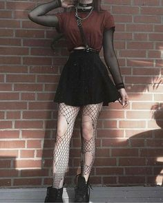Hipster Outfits, Gothic Outfits, Mode Outfits, Cute Casual Outfits, Grunge Outfits, Retro Outfits, 90s Grunge, Black Grunge, Grunge Style