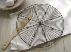 ♕ {keeping my eyes open for a vintage French wire cooling rack}  - I have one of these! Also have a vintage rectangular one as well! Love them!!