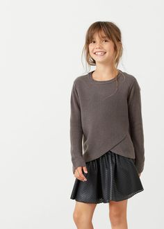 Textured crossover sweater