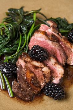 Once you know the technique, cooking a large Muscovy duck breast is no more difficult than cooking a steak Fragrant five-spice powder — a heady mix of Sichuan pepper, fennel, clove, star anise and cinnamon — is the perfect duck seasoning, and juicy blackberries make this a brilliant summertime dish Muscovy duck is found at better butchers, from online sources or even at some farmers' markets