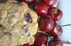 Dark Chocolate Cherry Oatmeal Cookies - that comforting oatmeal cookie made even better by the addition of dark chocolate chips and chopped fresh cherries.