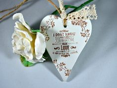 Inspirational quote, Love is the answer, Valentines day gift,  Wedding anniversary present, Love quotes, Hanging heart rustic decoration by FrivolousCrafts on Etsy