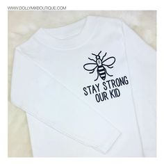 #staystrongourkid 🐝🐝🐝 Hands up if you Love Manchester 🙌🏽 Some super cute requests left us today. CREATE YOUR OWN via our website (Any profits from Manchester Bee products will continue to be donated to the fund) Order via website >>> www.dollymixboutique.com 💛