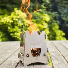 Emberlit Ultra Light Titanium Camping Stove; portable and easy to use; great for camping and also power outages
